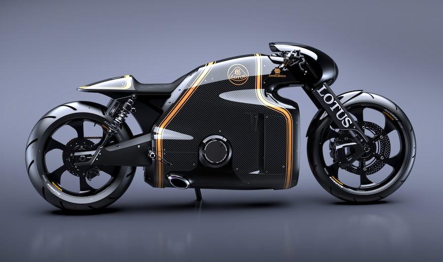 近未来的なデザインが特徴的すぎるバイク「ロータスC-01」