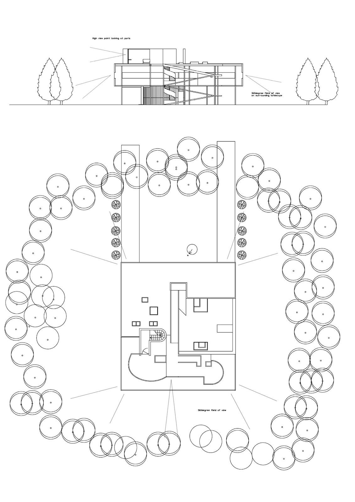 Villa Elevation Plan : Villa savoye elevation plan joy studio design gallery