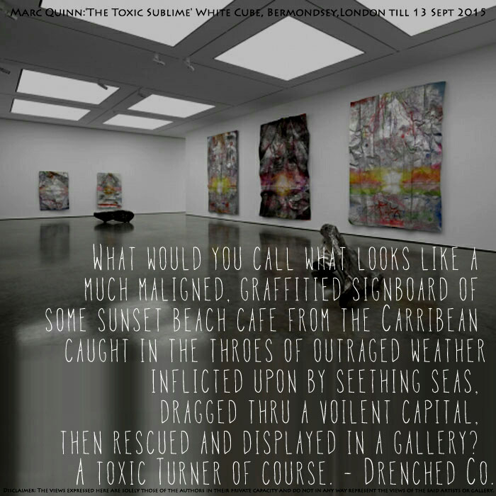Image of White Cube Gallery with review of exhibition