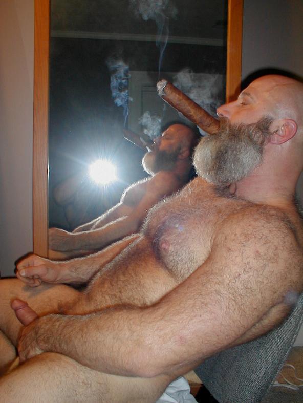 Cigar video men smoking sex