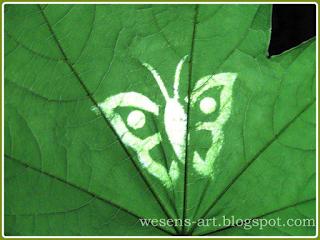 SilhouetteLeaf wesens-art.blogspot.com