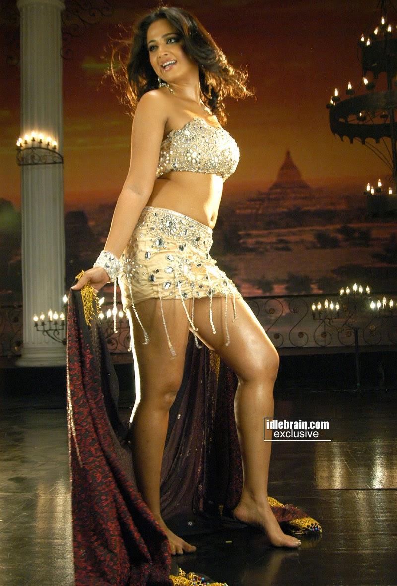 Anushka Shetty Hot in White Mini Skirt