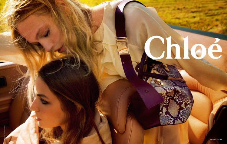 Chloe Fall/Winter 2014 Campaign starring Sasha Pivovarova and Andreea Diaconu