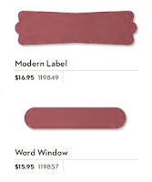 Shape of Stampin'UP!'s Modern Label Punch and Word Window Punch