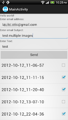 Start activity to send email with multiple images attached, with build-in MediaStore.Images.Media selector.