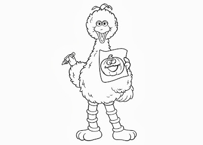 coloring pages of big bird - photo#25