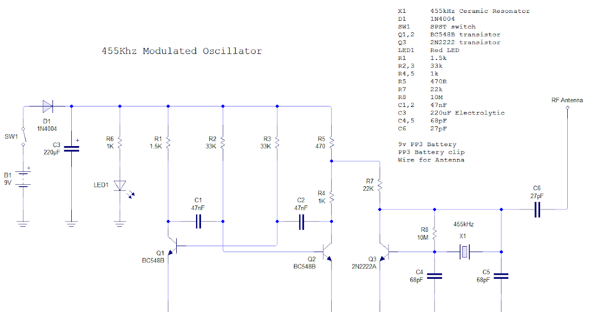 electronics 455khz if signal generator with am modulation rh electronics alfiemalfie blogspot com