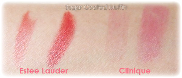 Estee Lauder lipstick vs Clinique