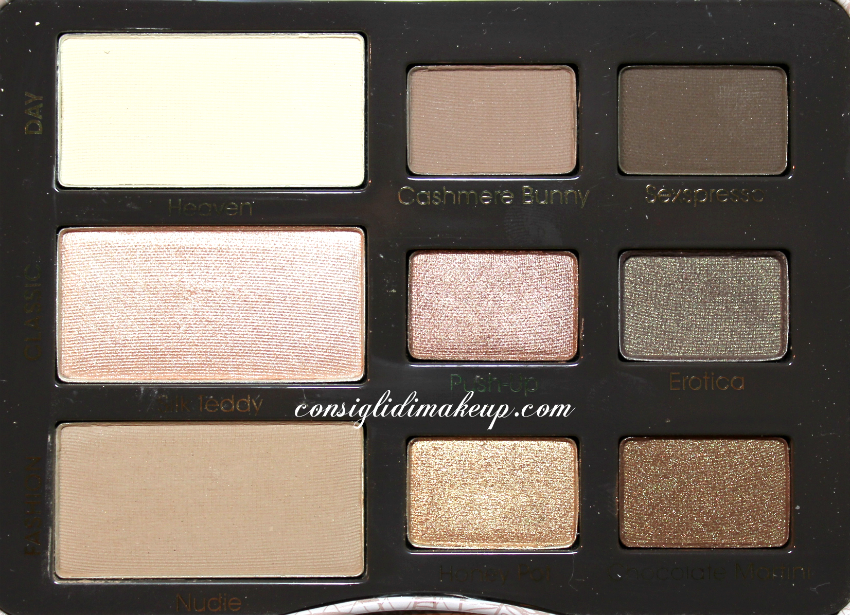 swatch natural eyes palette too faced