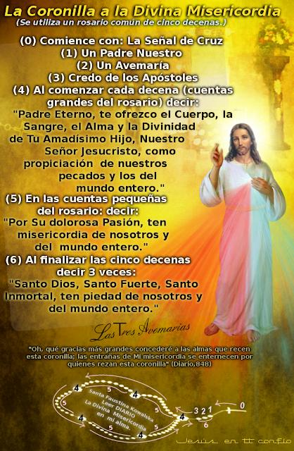 imagen de jesus cristo para saber como orar la coronilla a la divina misericordia