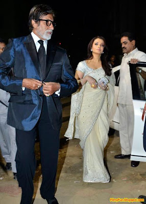 Big B and Aishwarya Rai arrive for the Filmfare Awards at Yash Raj Studio Mumbai_FilmyFun.blogspot.com