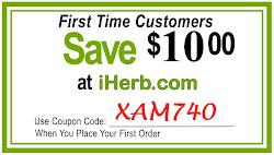 Постоянный код на 10$скидку для первого заказа на IHERB