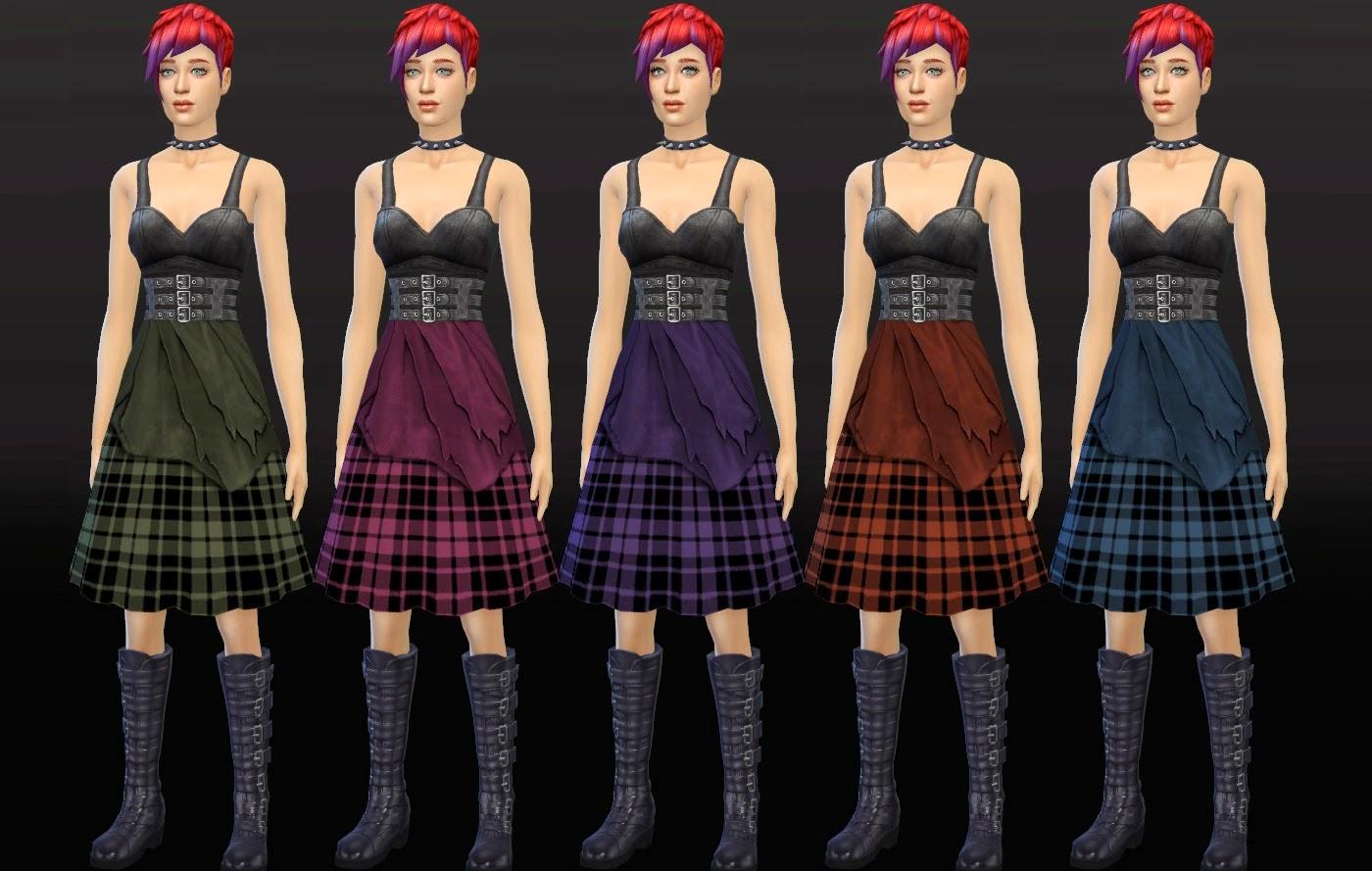 My Sims 4 Blog Punk Rock Dresses For Teen Elder Females