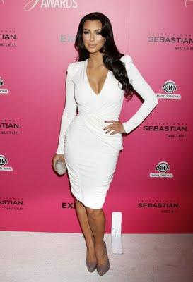 Kim Kardashian in white Dresses