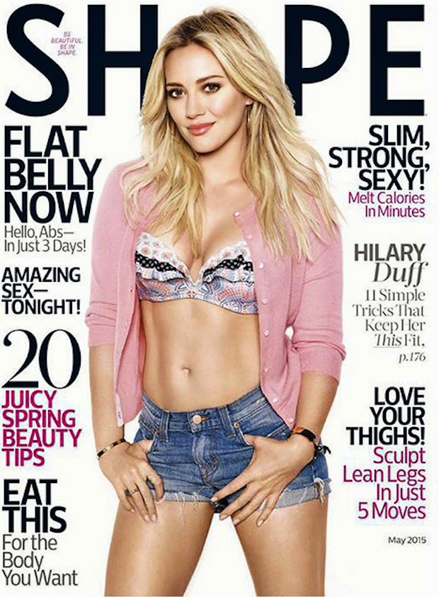 Actress, Singer @ Hilary Duff - Shape Magazine, May 2015