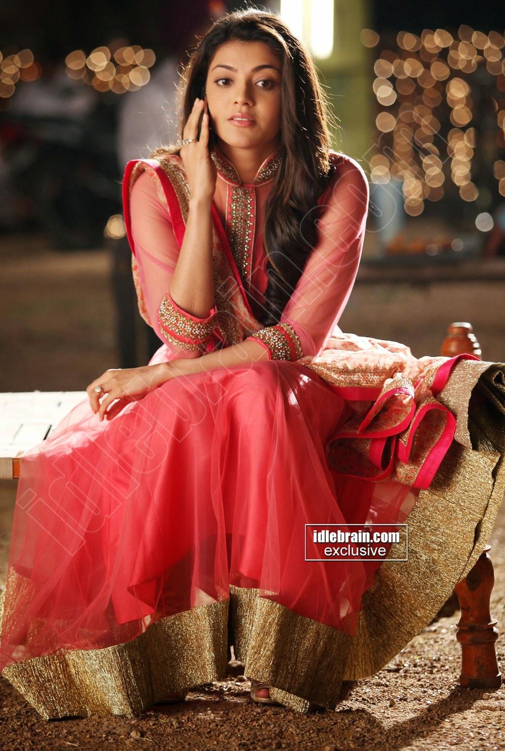Kajal Agarwal red dress