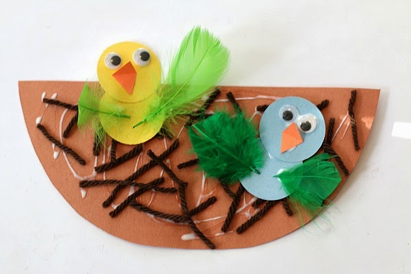 Bird art project for kids