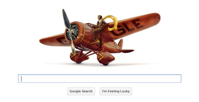 google doodle amelia earhart