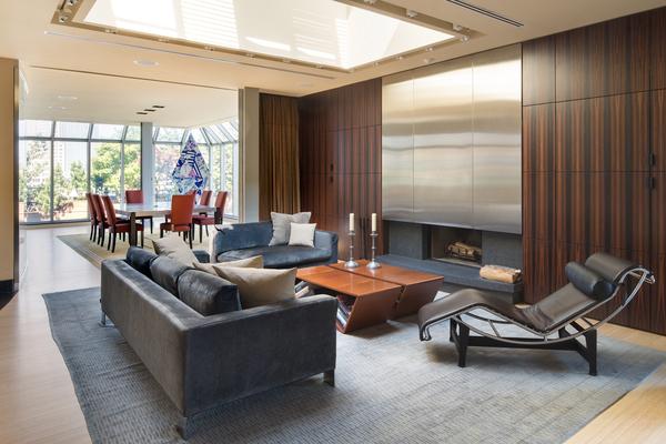 Photo of living room interiors in 66 Leonard Street penthouse