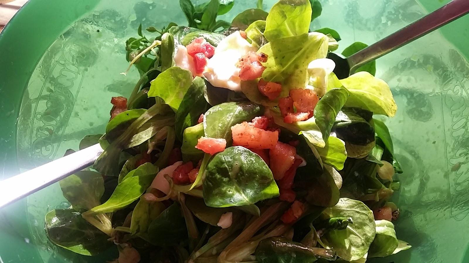 Le ricette di valentina insalata valeriana con uovo caldo for Songino valeriana
