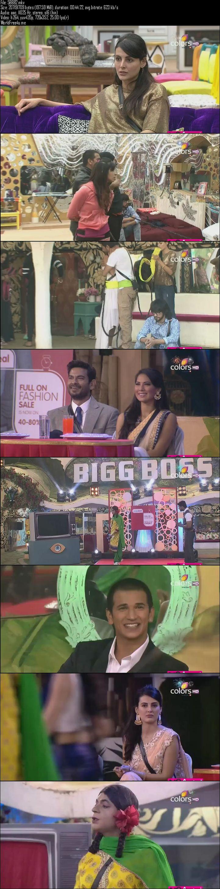 Screenshots Of Hindi Show Bigg Boss 9 31st December 2015 Episode 82 200MB 480P HD