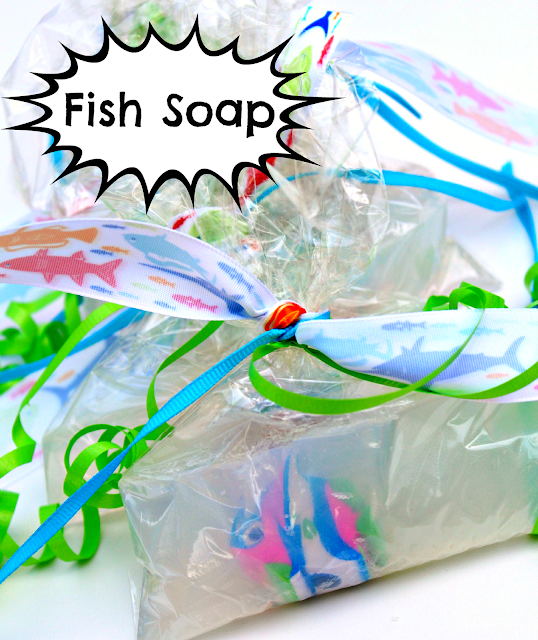Fish soap party favor a tutorial taylormade for Fish in a bag soap