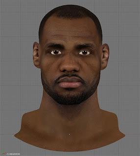 NBA 2K13 Lebron James HD Cyberface Patch
