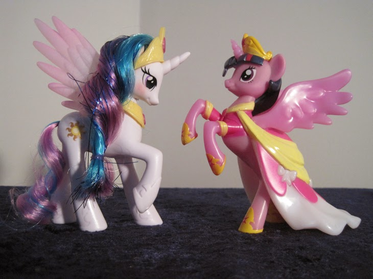 My Little Pony: Friendship is Magic Nite Friends Princess Twilight Sparkle nightlight with Princess Celestia figure.