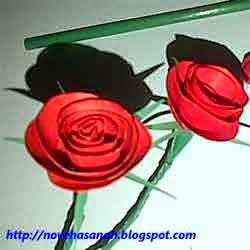 cara membuat bunga dari kertas 8