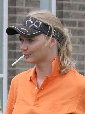 Jodie Kidd smoking