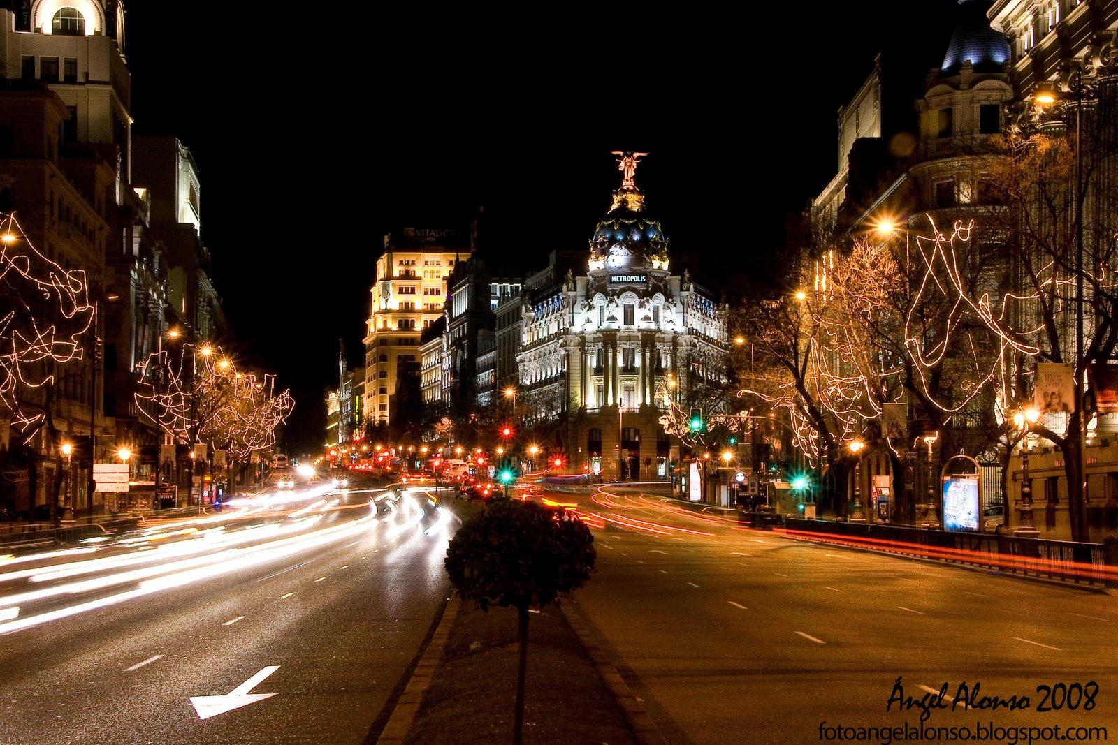 Madrid en fotos fotos nocturnas de madrid en navidad - Montadores de pladur en madrid ...