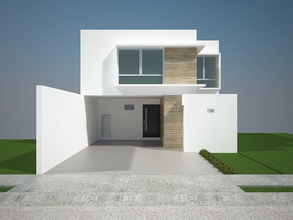 Fachadas minimalistas fachadas minimalistas modelo b6 for Casa modelo minimalista