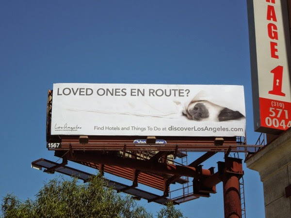 Discover LA Loved ones en route billboard