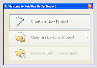 Membuat Project Baru di Autoplay Media Studio