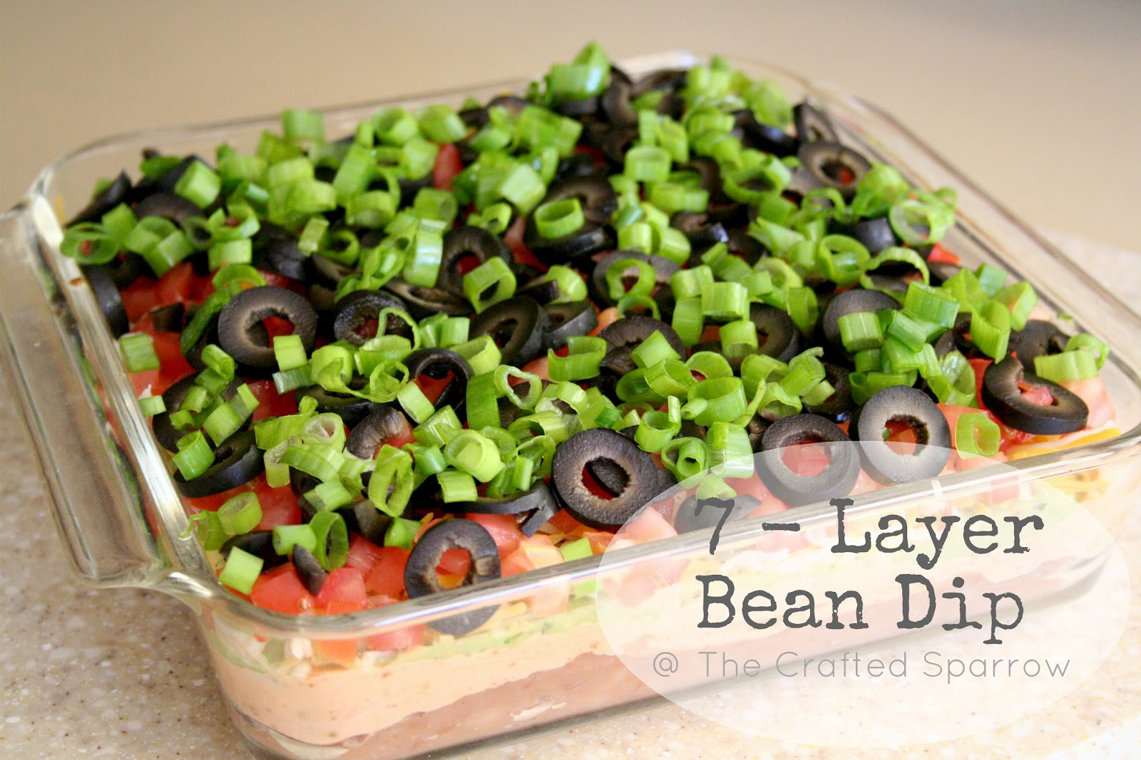 Layer Bean Dip & Guacamole