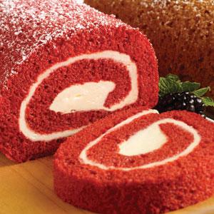 More specifically a Red Velvet cake roll.