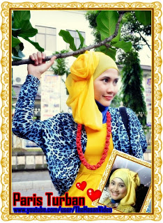 Turban PARIS ala Fatin for those whose face is oval or long. Tetapi