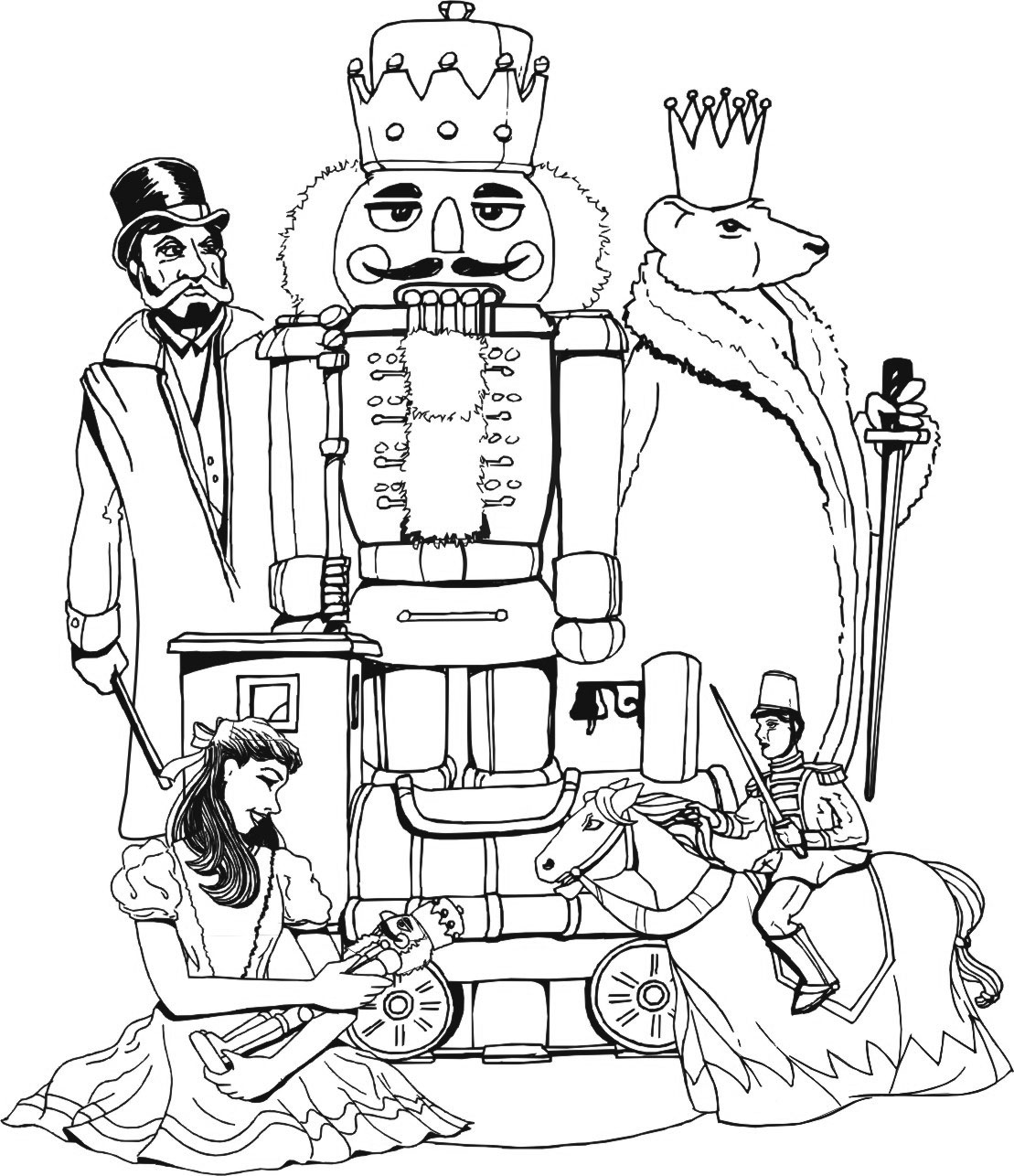 Nutcracker and Princess Coloring