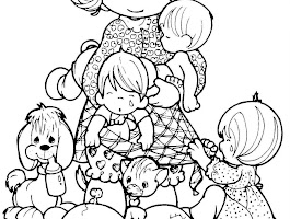Mother And Baby Animals Colouring Pages