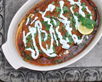 Afghan Eggplant & Tomato Casserole (Borani Banjan), Best Recipes for Everyday 2015 ♥ AVeggieVenture.com.