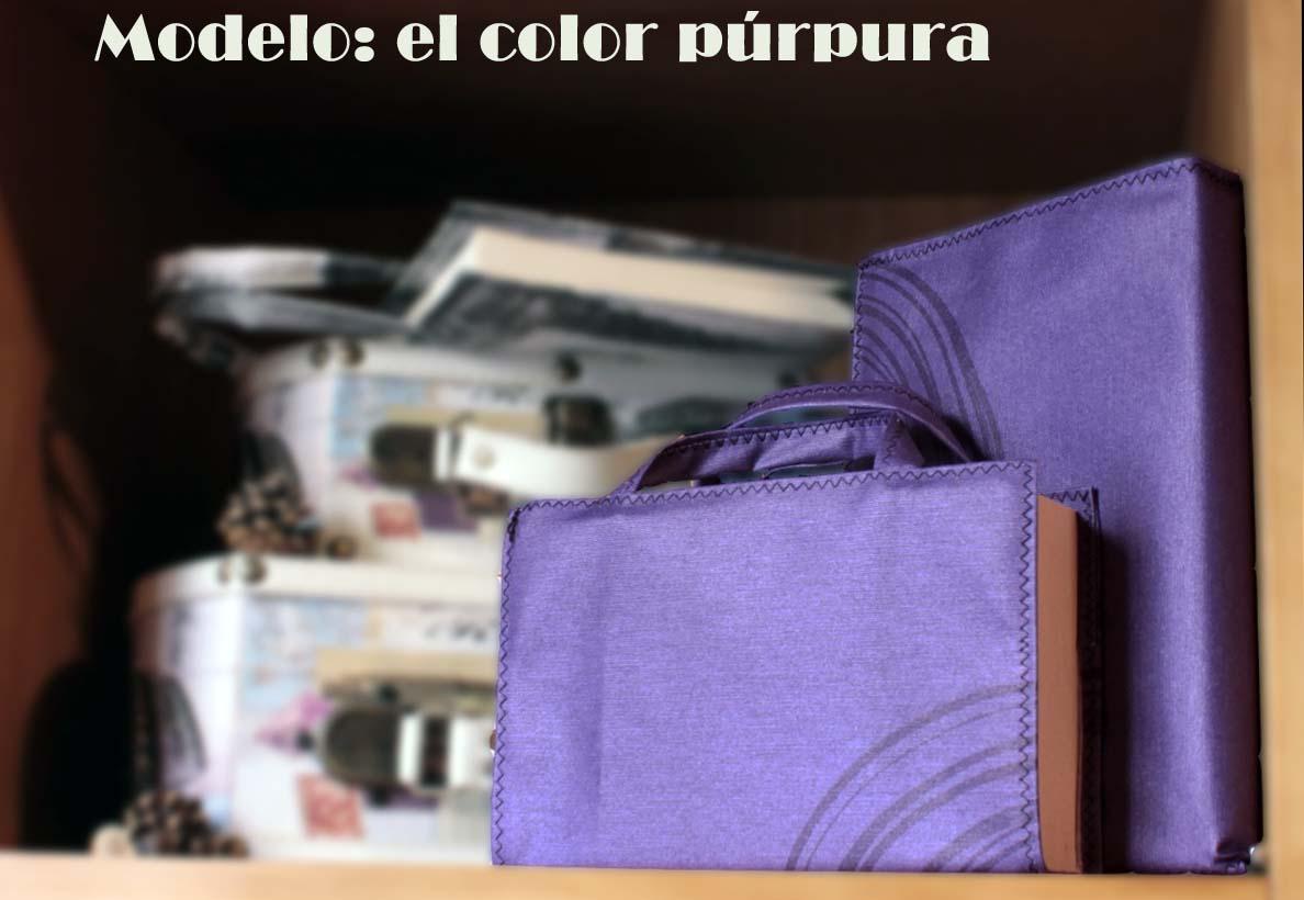 Funda para libro. Modelo: El color púrpura | Un tesoro en el armario