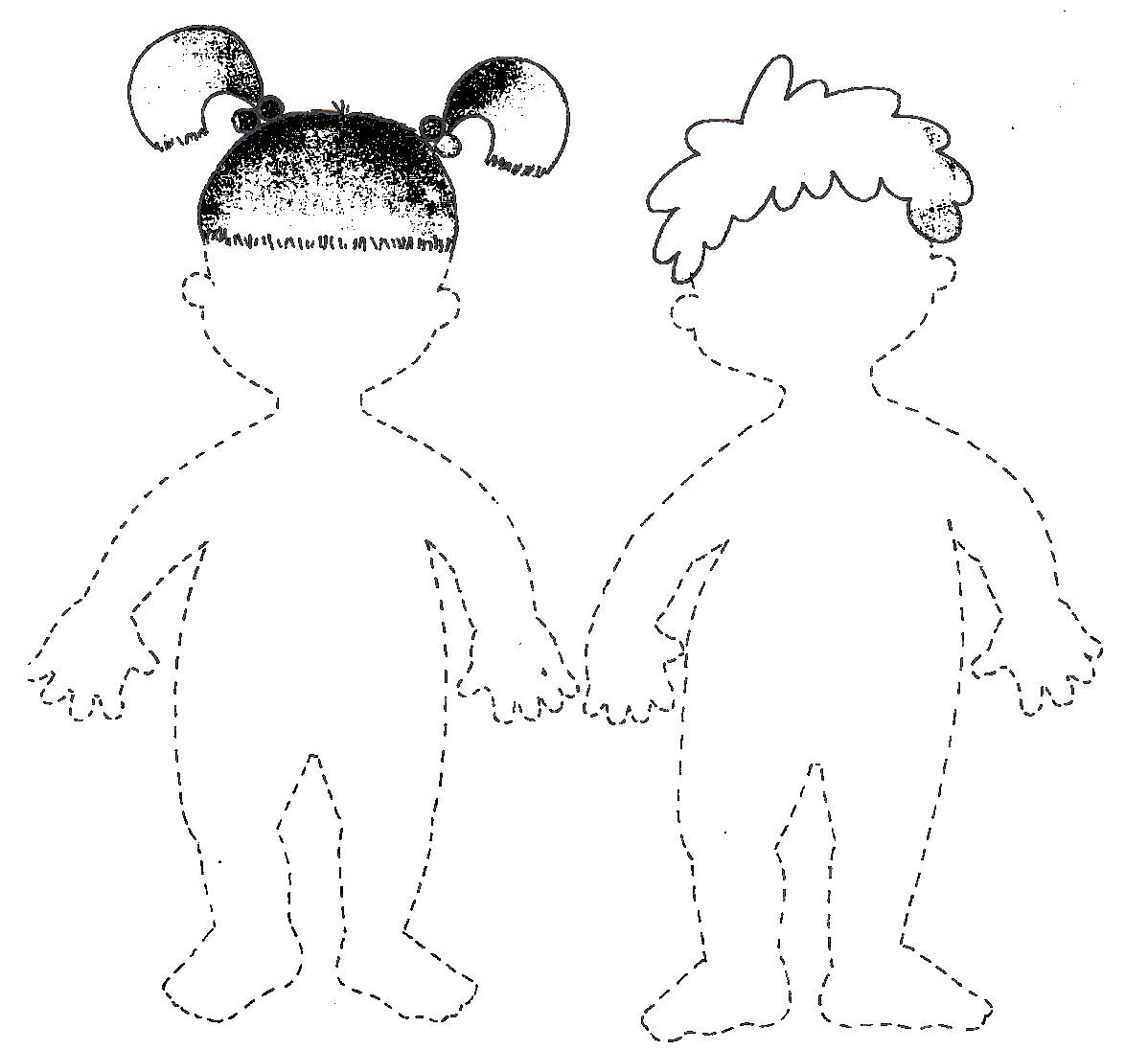Silueta del cuerpo humano para niños de preescolar - Imagui