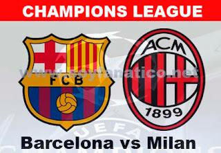 Partido de Vuelta Barcelona vs Milan por la Champions 2013