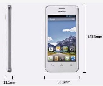 Dimensi Huawei Ascend Y320