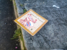 Livro deixado numa rua de Ramos/RJ