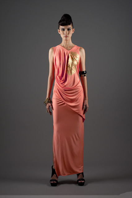 Pauline.ning dress inspired by pieces at the Asian Civilisations Museum in Singapore