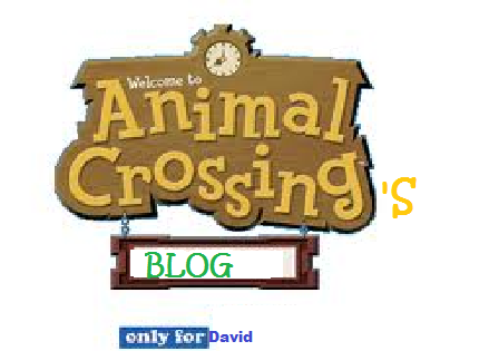 Animal Crossing's Blog