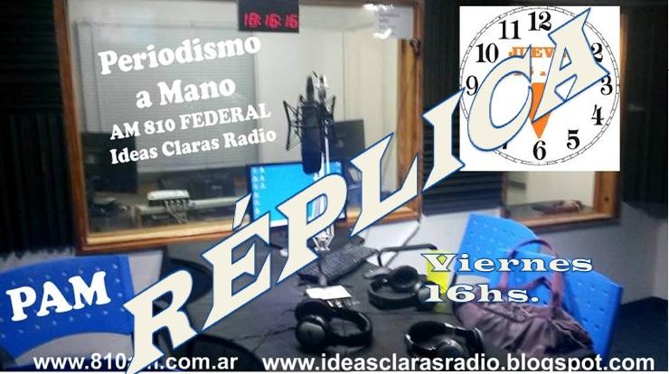 PAM Periodismo a Mano (Réplica) Viernes a las 16hs.