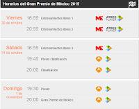 Horarios gp mexico f1 2015