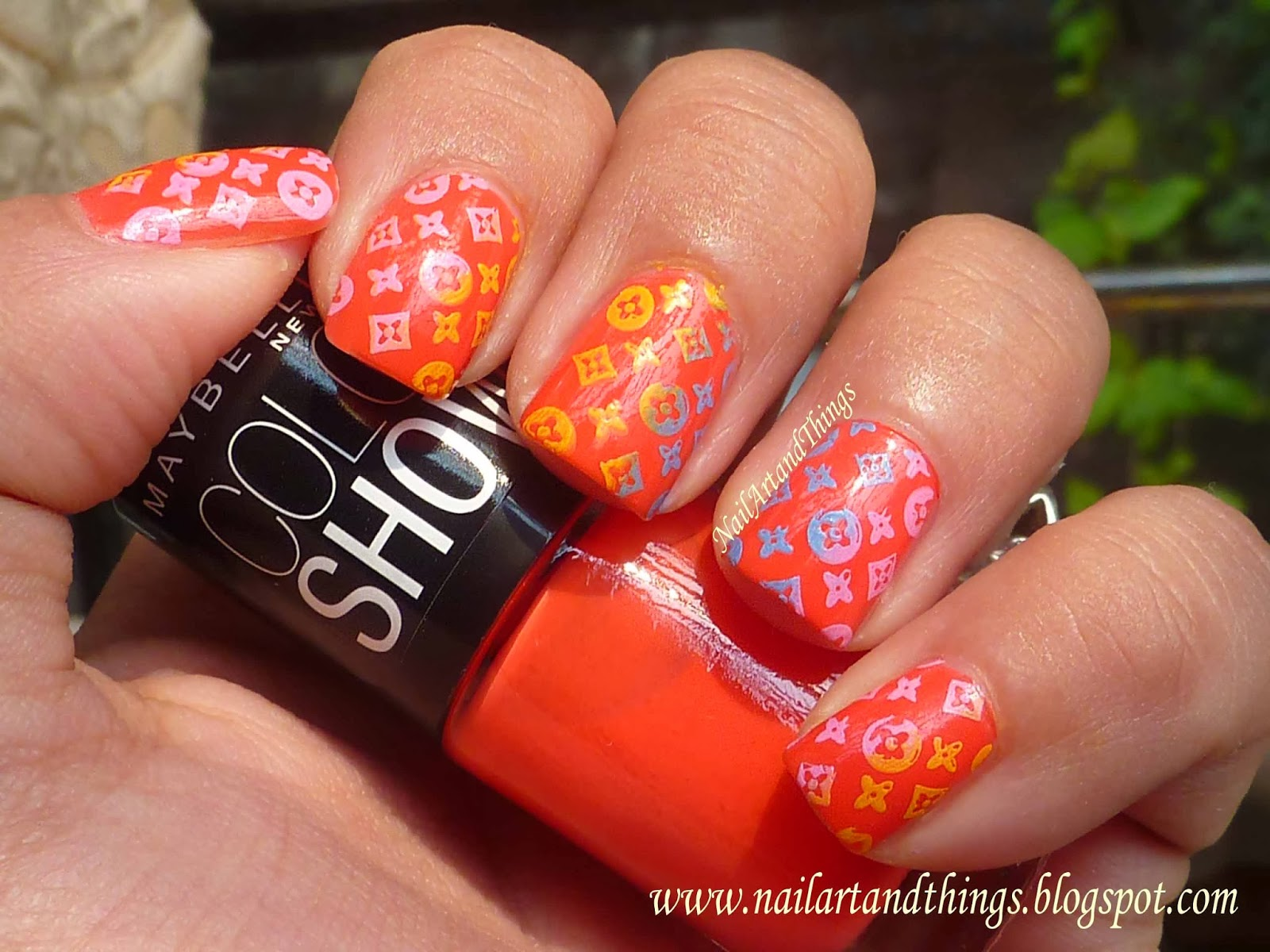 NailArt and Things: Designer Nails: Multi Color Stamping